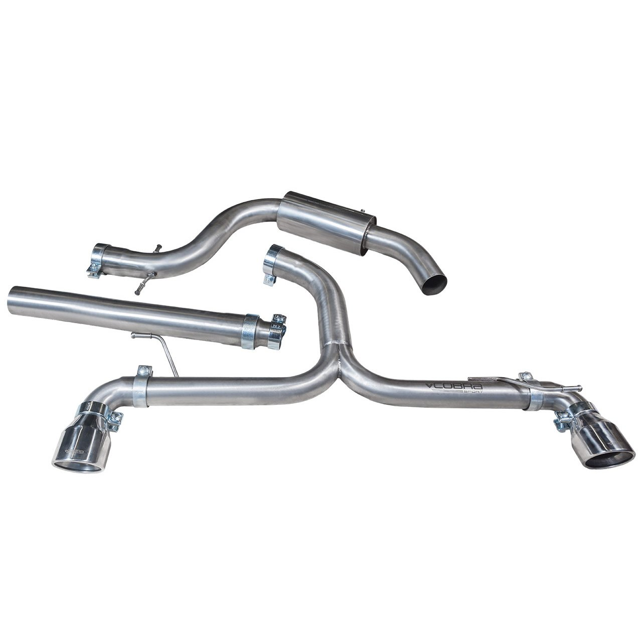 VW Golf GTD (Mk6) 2.0 TDI (5K) (09-13) Venom Box Delete GTI Style Cat Back Performance Exhaust