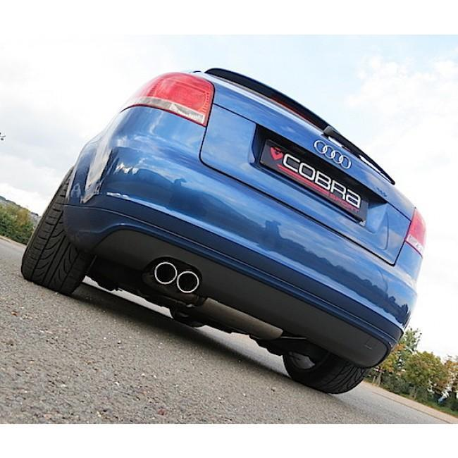 Audi A3 (8P) 2.0 TDI 170PS (2WD) (3 Door) Twin Tip Cat Back Performance Exhaust