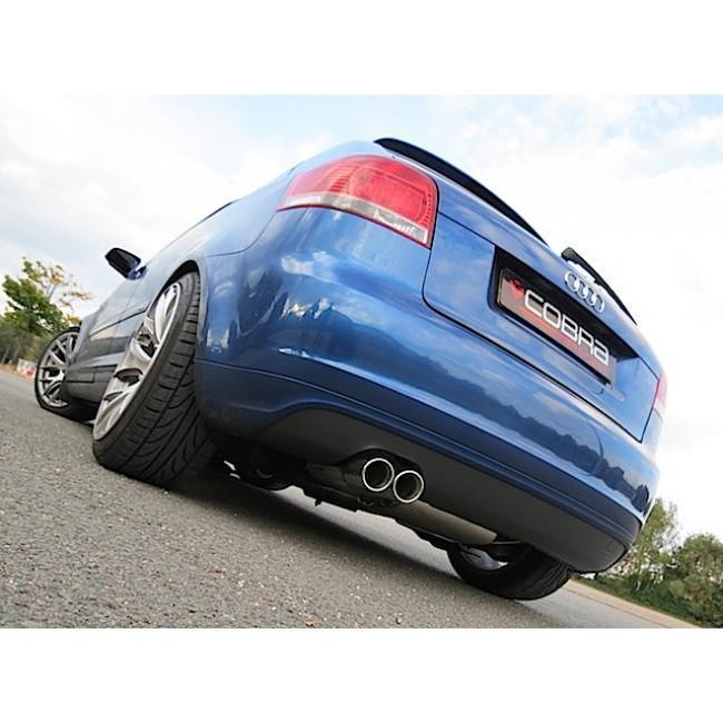Audi A3 (8P) 2.0 TDI 140PS (2WD) (3 Door) Twin Tip Cat Back Performance Exhaust