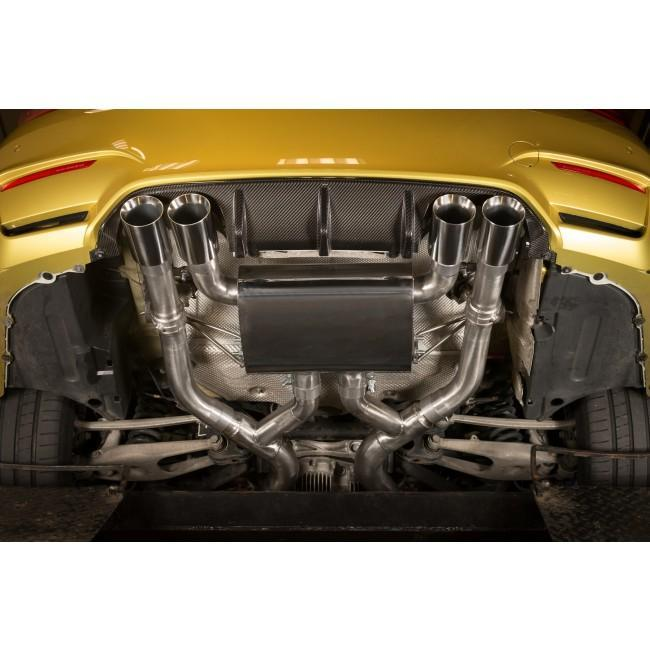 """BMW M4 (F82) Coupe 3"""" Valved Secondary Cat Back Performance Exhaust"""