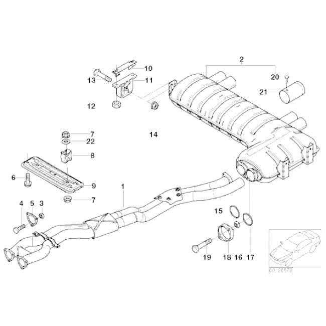 BMW M3 (E46) Performance Exhaust Centre Section