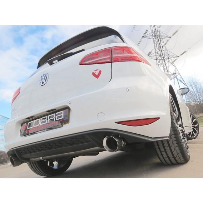 VW Golf GTD (Mk7) 2.0 TDI (5G) (14-17) GTI Style Cat Back Performance Exhaust
